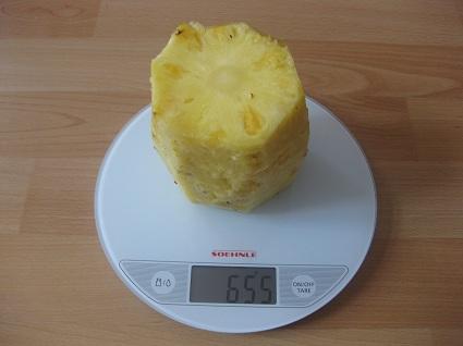 Essbarer Teil der Ananas