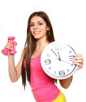 Uhrzeit für Sport