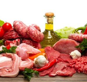 verschiedene Fleischsorten