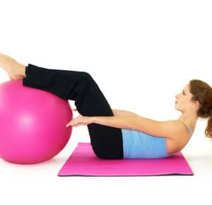 Gymnastikball Bauchmuskeln
